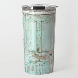 Barn Door Vintage Turquoise Travel Mug