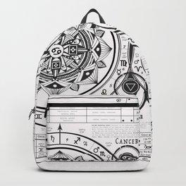 """Cancer """"Water Sign"""" Mandala Zodiac Chart Backpack"""