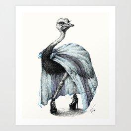Portrait of Lady Ostrich Art Print