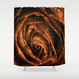 Burning Grunge Rose Shower Curtain