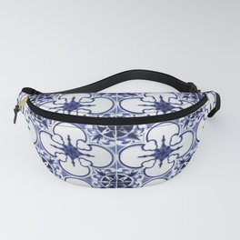 Portuguese Tiles Blue and White III Azulejos Fanny Pack