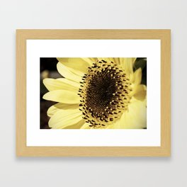 Hefting his white pillar with the light Framed Art Print