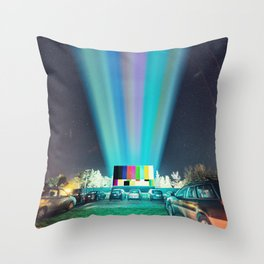 Drive In Test Pattern Throw Pillow