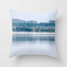 Morning begins with mist Throw Pillow