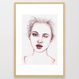 Just Kidding Framed Art Print