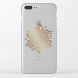 Mandala - Copper Clear iPhone Case