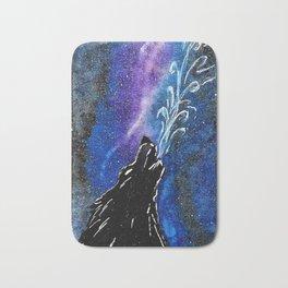 Wolf in the Sky Bath Mat