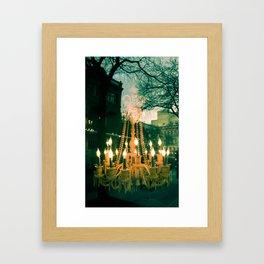 City Chandelier Framed Art Print