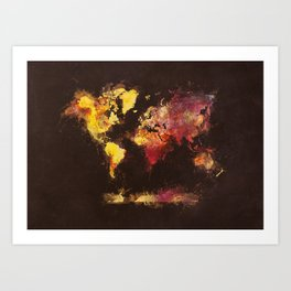 world map 63 Art Print