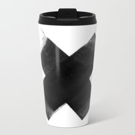 The Black X  Metal Travel Mug