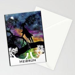Heidrun - The Goat of Norse Mythology Stationery Cards