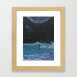 Fluctuating Irrigation Framed Art Print