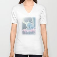 baby elephant V-neck T-shirts featuring Elephant Baby by SatrunTwins