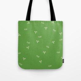 Aries Pattern - Green Tote Bag