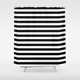 BLACK & WHITE STRIPES - M Shower Curtain