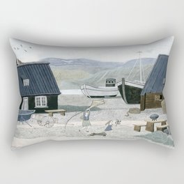 North Fishing Village Rectangular Pillow