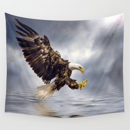 Bald Eagle swooping Wall Tapestry