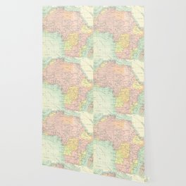 Vintage Africa Map Wallpaper