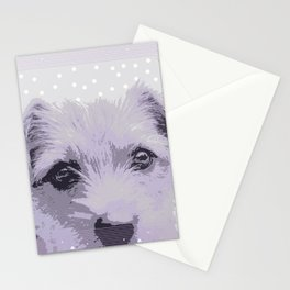 Curious little dog waiting for you - funny dog portrait Stationery Cards