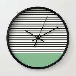Sailor Stripes Wall Clock