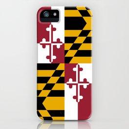 Maryland State Flag, Hi Def image iPhone Case