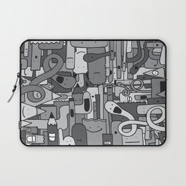 Pile de Monstres - Black/White Laptop Sleeve