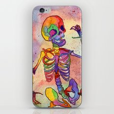 Rainbow Skeleton iPhone & iPod Skin