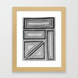 Geometric squares Framed Art Print