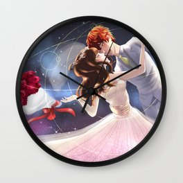 Let's get marry in the space station Wall Clock