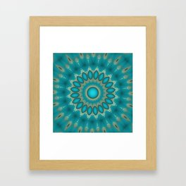 Turquoise Jewels Framed Art Print