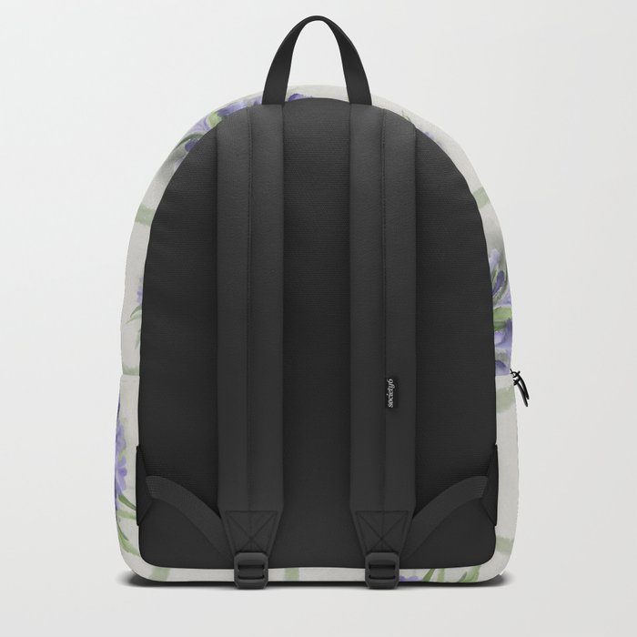 Blue purple flowers Backpack