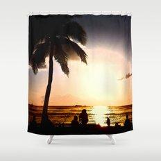 Remembering Waikiki Shower Curtain