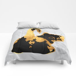 Golden Cat Comforters