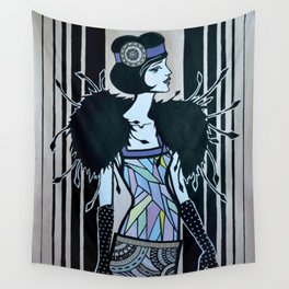 Melancholic flapper Wall Tapestry