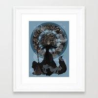 "discworld Framed Art Prints featuring Eskarina  by Barbora ""Mad Alice"" Urbankova"