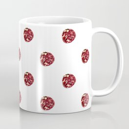 Pomegranates Grid White Coffee Mug