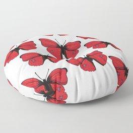 Red butterfly Spring Art Floor Pillow