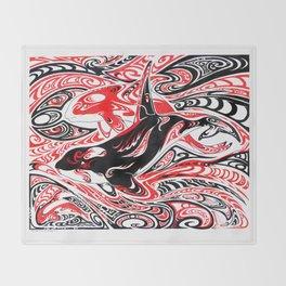 Dreaming: Orcas Throw Blanket
