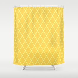 Fish Net - Mustard Yellow Shower Curtain