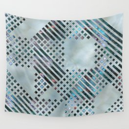 Abstract Geometric Labradorite on Mother of pearl Wall Tapestry