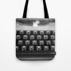 in black and white Tote Bag
