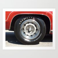 Muscle Car Wheel 2 Art Print