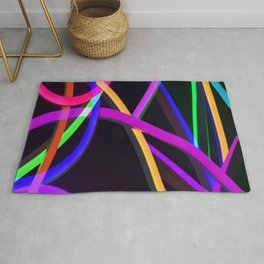 Bold Colors in Abstract Rug