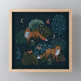 Forest Foxes Framed Mini Art Print
