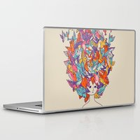 birdy Laptop & iPad Skins featuring Birdy by Julia Sonmi Heglund
