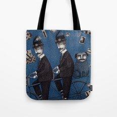 Two Men Travelling Tote Bag