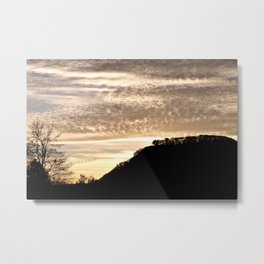 Sunset Silhouette - Mt. Sugarloaf, Sunderland MA Metal Print