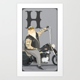 H is for.. Art Print