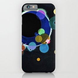 Planets & Moons (Several Circles) by Wassily Kandinsky iPhone Case