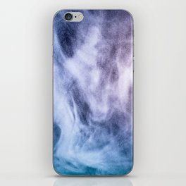 Blue and purple abstract heavenly clouds iPhone Skin
